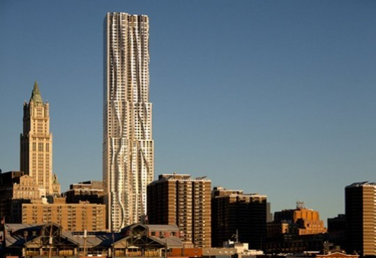 New York by Gehry (8 Spruce St between between Gold and Nassau Sts)