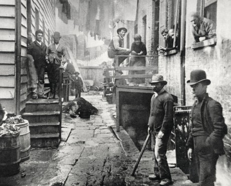 Jacob Riis, Bandit's Roost, 1890