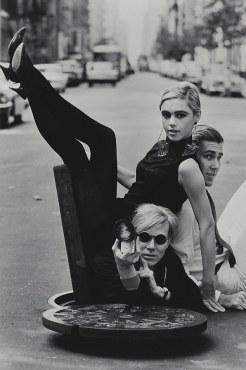 Burt Glinn, Portrait of Andy Warhol, Edie Sedgwick and Chuck Wein, 1965