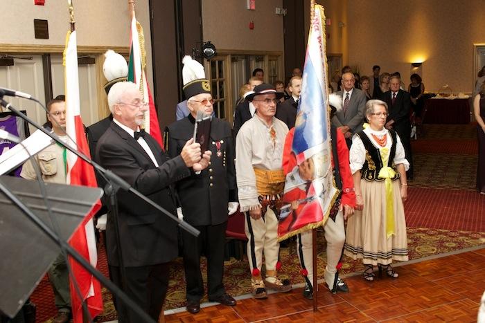 Wręczenie nagrody Związkowi Podhalan na Balu Kongresu 2013