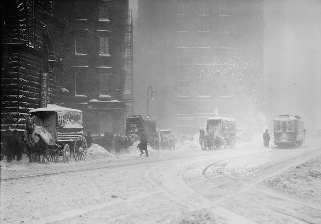 Nowojorskie dorozki w zimie 1910 r.