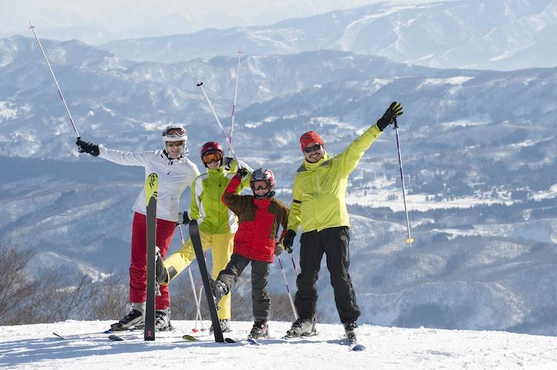 W Japonii na nartach.