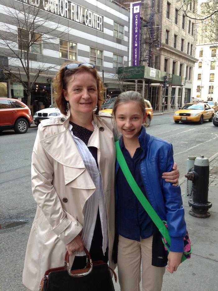 Irena Biały i Karolina Bzowska( w tle: NYU Cantor Film Center)
