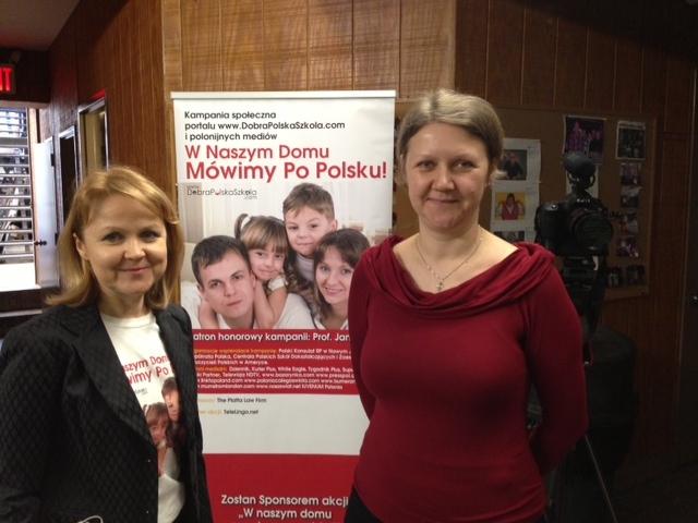 Marta Kustek z portal DobraPolskaSzkola.com i Beata Popowska