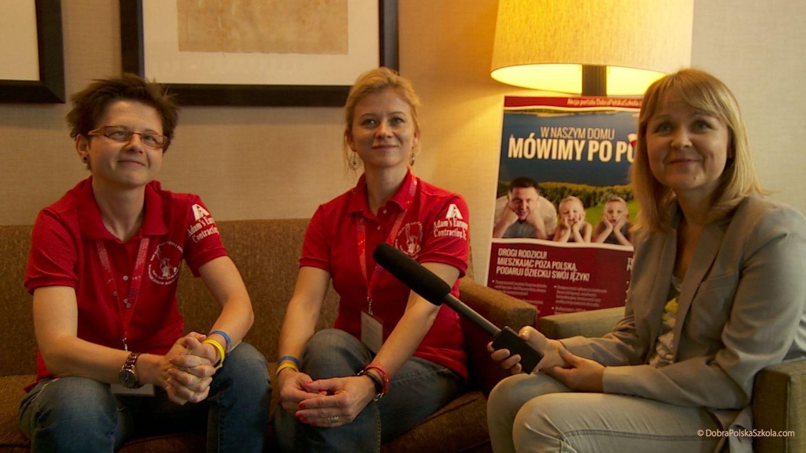 Barbara Wojcieszak i Aneta Matyszczyk z Polskiej Szkoly w Clark, CT, Marta Kustek z portalu DobraPolskaSzkola.com