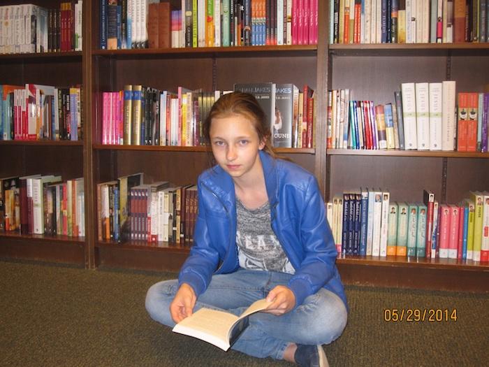 Karolina Bzowska w ulubionej księgarni Barnes&Nobles