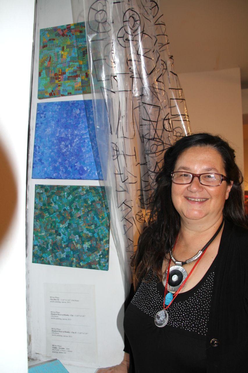 Beata Pflanz prezentuje swoje prace