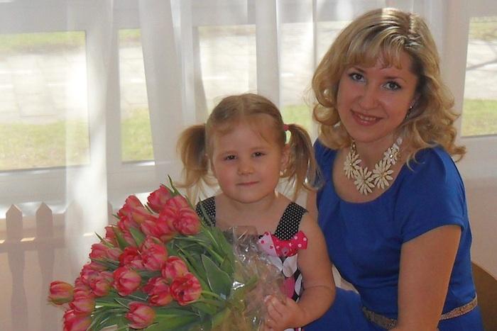 Andzela Dubowska z corka, Karolinka