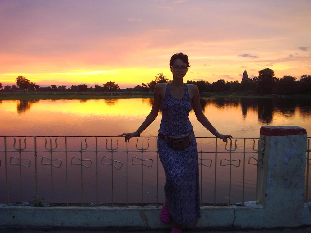 Zachód słońca w Khajuraho