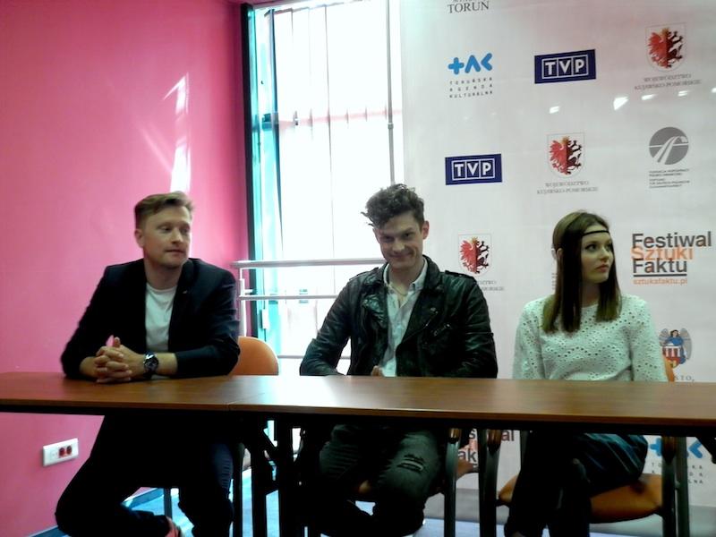 Od lewej _ Jakub Wesołowski, Adam Fidusiewicz, Kasia Sawczuk