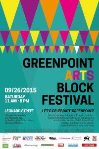 Greenpoint Arts Block Festival -poster- 2015-09-17
