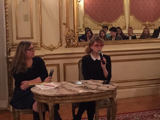 Prowadząca spotkanie Izabela Barry i Magdalena Kicińska