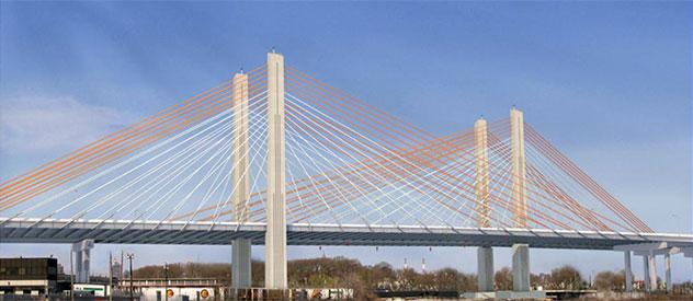 Projekt nowego Mostu Kościuszki