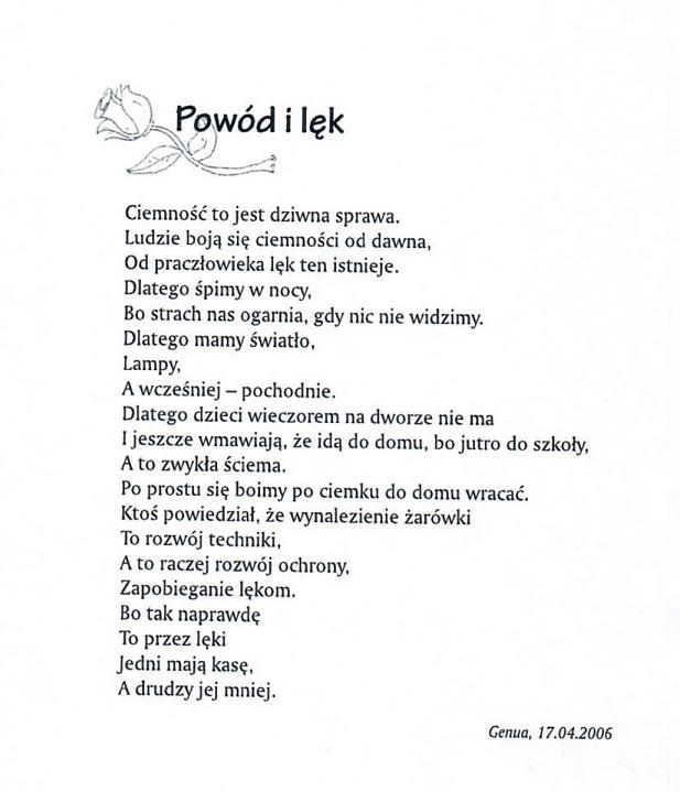 Maciek - 2 wiersze do klubu